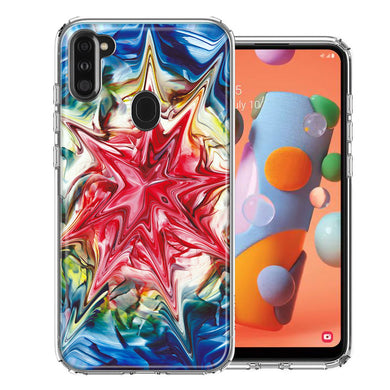 Samsung A11 Tie Dye Abstract Design Double Layer Phone Case Cover