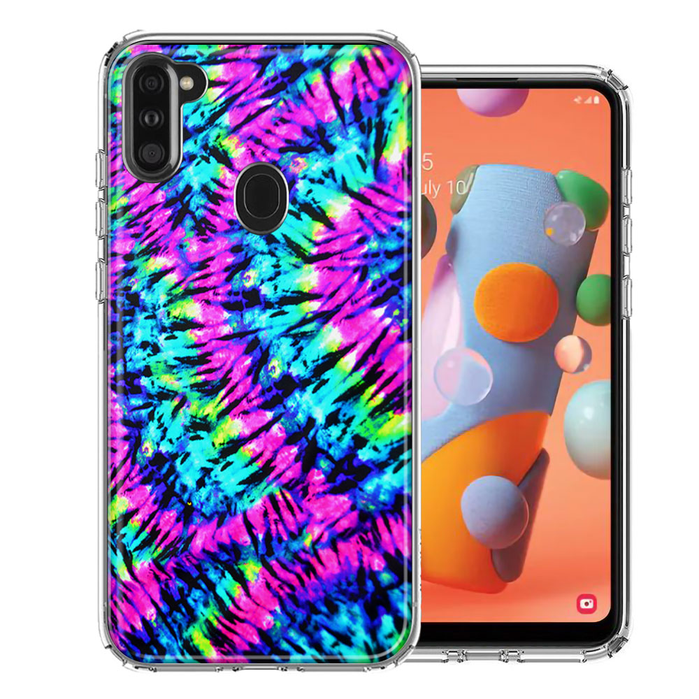 Samsung A11 Hippie Tie Dye Design Double Layer Phone Case Cover