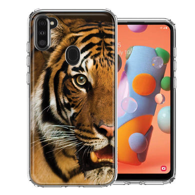 Samsung A11 Tiger Face Design Double Layer Phone Case Cover