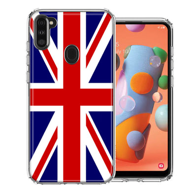 Samsung A11 UK England British Flag Design Double Layer Phone Case Cover
