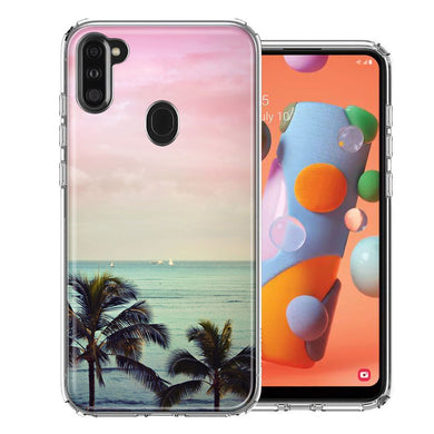 Samsung A11 Vacation Dreaming Design Double Layer Phone Case Cover