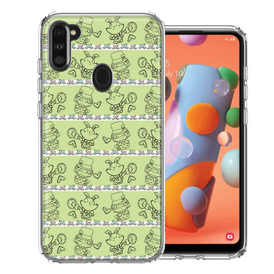 Samsung A11 Wonderland Hatter Rabbit Design Double Layer Phone Case Cover