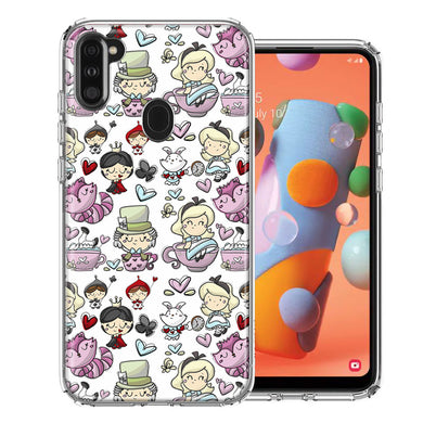 Samsung A11 Wonderland Design Double Layer Phone Case Cover