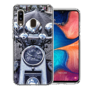Samsung A20 Motorcycle Chopper Design Double Layer Phone Case Cover