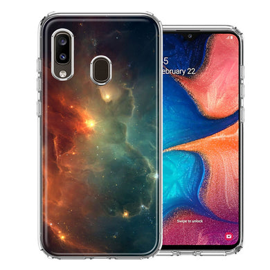 Samsung A20 Nebula Design Double Layer Phone Case Cover
