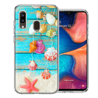 Samsung A20 Seashell Wind chimes Design Double Layer Phone Case Cover