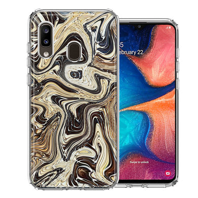 Samsung A20 Snake Abstract Design Double Layer Phone Case Cover