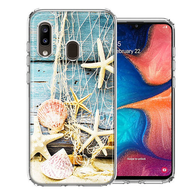Samsung A20 Starfish Net Design Double Layer Phone Case Cover
