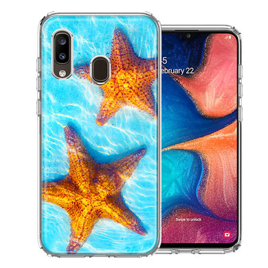 Samsung A20 Ocean Starfish Design Double Layer Phone Case Cover