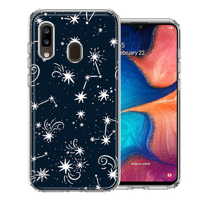Samsung A20 Stargazing Design Double Layer Phone Case Cover