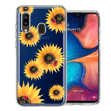 Samsung A20 Sunflower Ladybug Design Double Layer Phone Case Cover