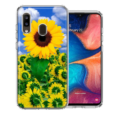Samsung A20 Sunflowers Design Double Layer Phone Case Cover