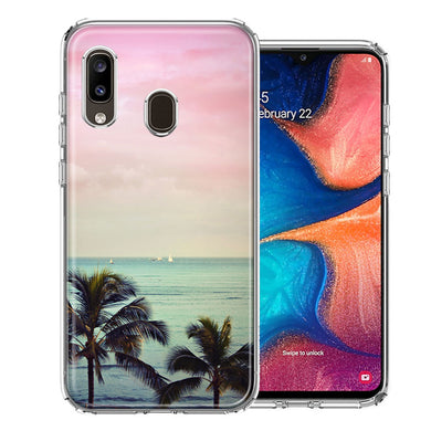 Samsung A20 Vacation Dreaming Design Double Layer Phone Case Cover