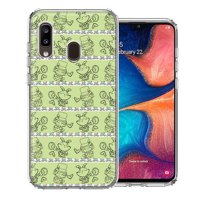Samsung A20 Wonderland Hatter Rabbit Design Double Layer Phone Case Cover
