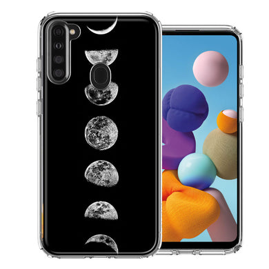 Samsung A21 Moon Transitions Design Double Layer Phone Case Cover
