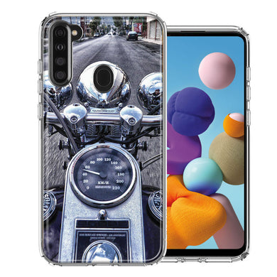 Samsung A21 Motorcycle Chopper Design Double Layer Phone Case Cover