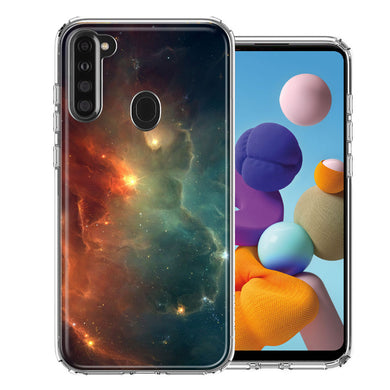 Samsung A21 Nebula Design Double Layer Phone Case Cover