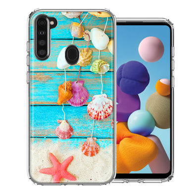 Samsung A21 Seashell Wind chimes Design Double Layer Phone Case Cover