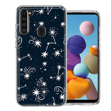 Samsung A21 Stargazing Design Double Layer Phone Case Cover