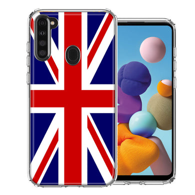 Samsung A21 UK England British Flag Design Double Layer Phone Case Cover