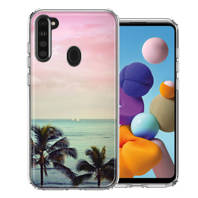 Samsung A21 Vacation Dreaming Design Double Layer Phone Case Cover