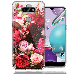 LG Aristo 5/K31/Fortune 3 Colorful Flowers Design Double Layer Phone Case Cover