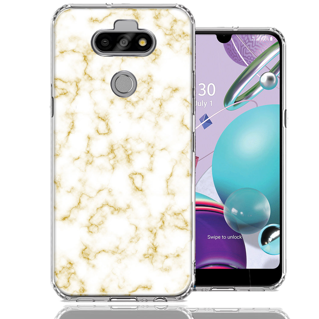 LG Aristo 5/K31/Fortune 3 Gold Marble Design Double Layer Phone Case Cover