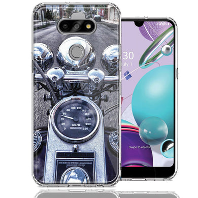 LG Aristo 5/K31/Fortune 3 Motorcycle Chopper Design Double Layer Phone Case Cover