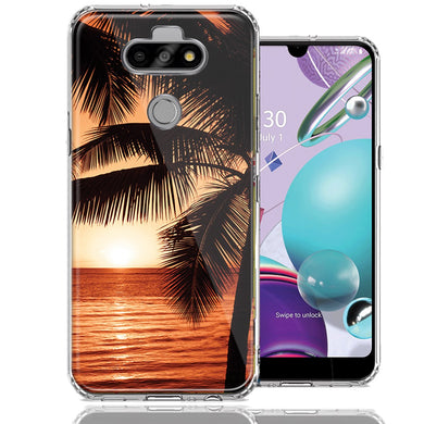 LG Aristo 5/K31/Fortune 3 Paradise Sunset Design Double Layer Phone Case Cover