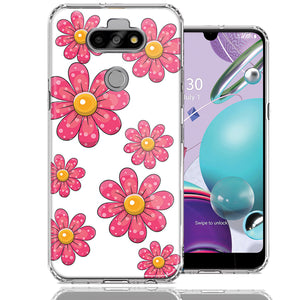 LG Aristo 5/K31/Fortune 3 Pink Daisy Flower Design Double Layer Phone Case Cover