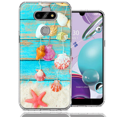 LG Aristo 5/K31/Fortune 3 Seashell Wind chimes Design Double Layer Phone Case Cover