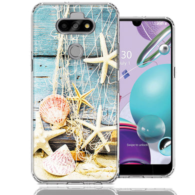 LG Aristo 5/K31/Fortune 3 Starfish Net Design Double Layer Phone Case Cover