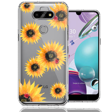 LG Aristo 5/K31/Fortune 3 Sunflower Ladybug Design Double Layer Phone Case Cover