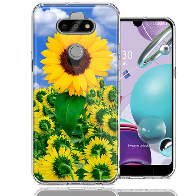 LG Aristo 5/K31/Fortune 3 Sunflowers Design Double Layer Phone Case Cover
