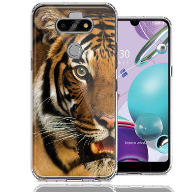 LG Aristo 5/K31/Fortune 3 Tiger Face Design Double Layer Phone Case Cover