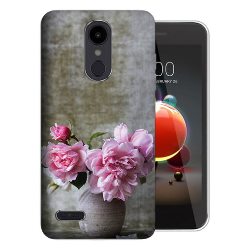LG Aristo 2 Plus X210 / Zone 4/ Fortune 2 UV Printed Design Case - Flowers and Vase Design Phone Cover