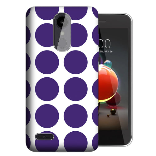 Purple White Polkadot Risio 3 Case - LG K8+ (2018) / Risio 3 / Tribute Dynasty - UV Printed Design Phone Cover