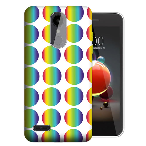 Rainbow Polkadot Risio 3 Case - LG K8+ (2018) / Risio 3 / Tribute Dynasty - UV Printed Design Phone Cover