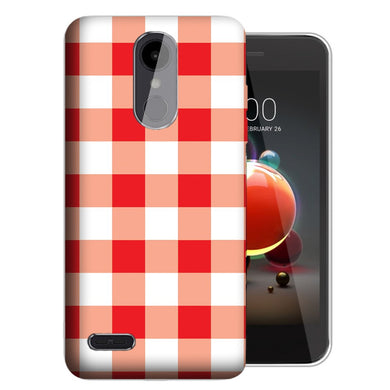 MUNDAZE LG Stylo 5 Red Plaid Design Phone Case Cover