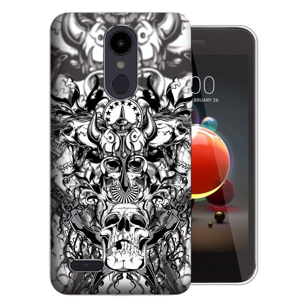 MUNDAZE LG Stylo 5 Viking Skull Design Phone Case Cover