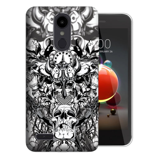 Viking Skulls Risio 3 Case - LG K8+ (2018) / Risio 3 / Tribute Dynasty - UV Printed Design Phone Cover