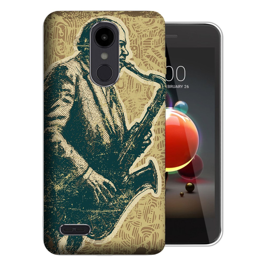 MUNDAZE LG Stylo 5 Vintage Jazz Design Phone Case Cover