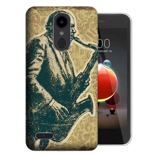 Vintage Jazz Saxophone Risio 3 Case - LG K8+ (2018) / Risio 3 / Tribute Dynasty - UV Printed Design Phone Cover