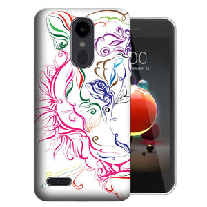 MUNDAZE LG Stylo 5 White Abstract Tiger Design Phone Case Cover