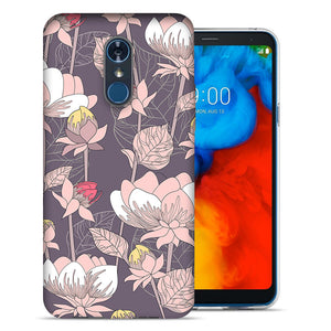 LG Stylo 4 Vintage Peony Flowers Design TPU Gel Phone Case Cover