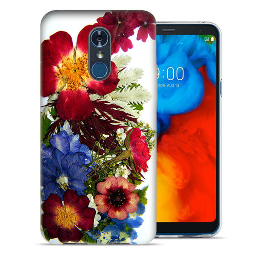 LG Stylo 4 Printed Pressed Blossoms Design TPU Gel Phone Case Cover