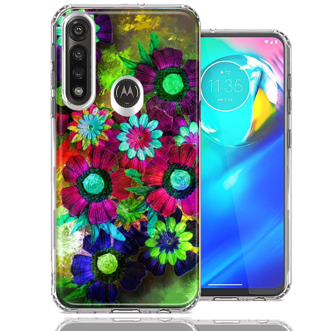 Motorola Moto G Power Colorful Daisies Design Double Layer Phone Case Cover