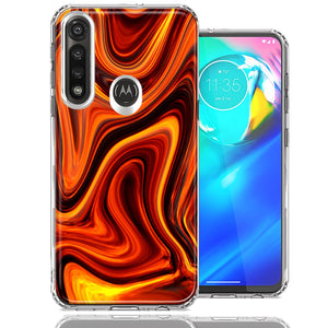 Motorola Moto G Power Fire Abstract Design Double Layer Phone Case Cover