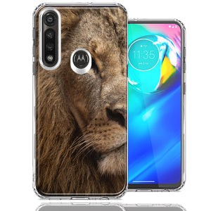 Motorola Moto G Power Lion Face Nosed Design Double Layer Phone Case Cover