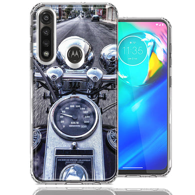 Motorola Moto G Power Motorcycle Chopper Design Double Layer Phone Case Cover